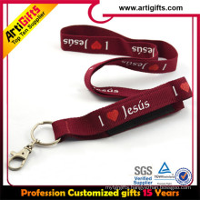 Fast Delivery Ployester Customized printing cell phone strap string