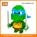 Новая конструкция миниатюрных фигурок черепахи ниндзя LOZ, мини-игрушка-черепаха ниндзя для детей