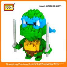 New design LOZ ninja turtle miniature figures,mini ninja turtle toy for children