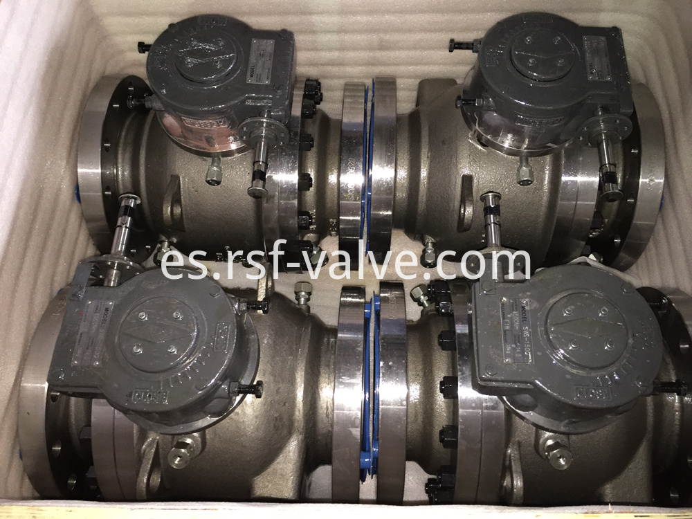 2pcs Body Cast Steel Trunnion Mounted Ball Valve 3