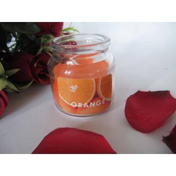 Candele per vasi decorative profumate all'arancia
