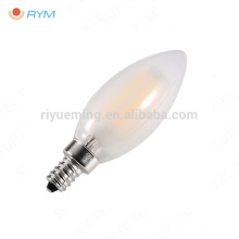 frosted E14 C35 candle light lamp spiral led filament