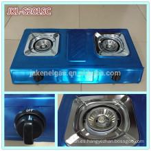 estufa de cocina de gas de 2 quemadores de acero inoxidable