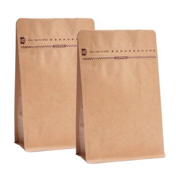 Sacos marrons Ziplock Kraft Paper Bag