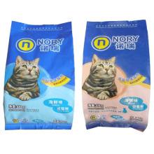 Malote da comida de gato 480g / saco selado lado dos alimentos para animais de estimação do quadrilátero