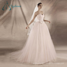 Sashes Pleat Flowers Wedding Dress Bridal Ball Gown