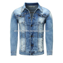 custom made Oem 100% Cotton jeans Denim motorcycle Jacket Wholesale Embroidered Windproof Jeans Jacket