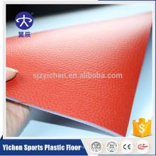4.5mm rouge litchi grain pvc antidérapant tapis de sol intérieur de tennis de table
