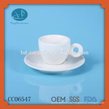 Keramik Espressotasse und Untertassen, personalisierte Tasse und Untertasse, Teetasse, Espresso Cup mit Teller