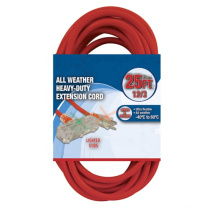 All weather 12 AWG/3 conductor grounded heavy-duty extension cord