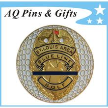 Metal Gold Golf Ball Marker in Soft Enamel of Golf Equipment (Golf-05)