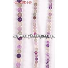 Природные Пурпурный Флюорит круглых бусин
