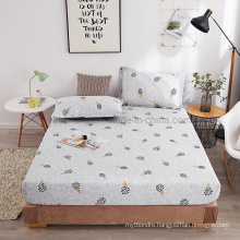 Deep Pockets Hypoallergenic Cotton Brushed Fabric for Light Grey Full Bedding Set