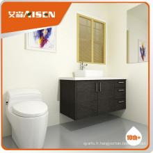 Avec garantie de qualité placage en bois, armoires de salle de bains personnalisées
