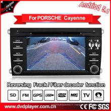 Audio de voiture pour Porsche Cayenne GPS Navigatior avec MP4 DVB-T Système Android