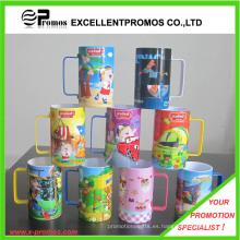 Impreso brillante colorido taza de plástico para promocional (EP-M9153)