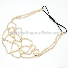 2015 vente chaude populaire mode élégante tisserelle élastique hairband pour femmes