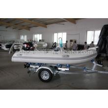 pequeno barco inflável de fibra de vidro de costela para fábrica