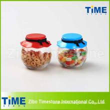 265ml Food Candy Glass Almacenamiento Jar con tapa de plástico