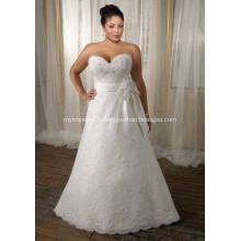 A-ligne Sweetheart balayage Train dentelle ruban de Satin et la robe de mariée taille
