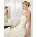 Princess Ball Gown Sayang Katedral Kereta Taffeta Beading Embroidery Wedding Dress