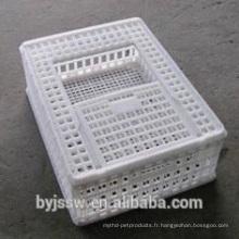 Transport de volailles vivantes Cages d'animaux en plastique