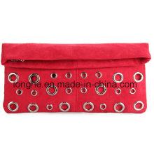 Fashion Decorative Eyelets Folded Lady Handbag (LY0124)