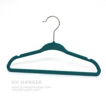 China Plastic Hanger Chlidren Kids Save Space Velvet Hanger