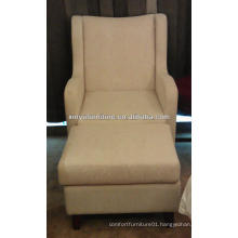 Hotel durable recline arm sofa chair with stool XY2502