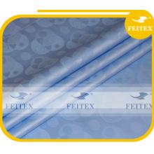 Tissu bleu de tissu de Bazin de coton de bébé Tissu africain de damassé de mode de brocard de Guinée