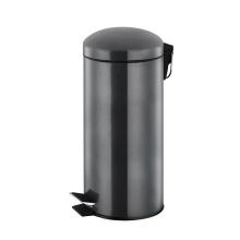 Poubelle à pédale ronde en acier inoxydable de 30 litres