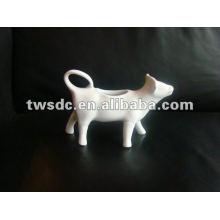 white durable porcelain cow creamer,cream separator--(MJ-005)