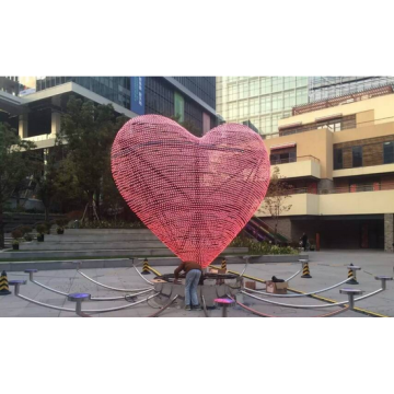 Metal Modern Heart Sculpture LoveSculpture Outdoor Sculpture