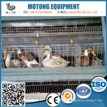 Équipement de cage de canard d'oeuf d'alimentation intelligente à plusieurs étages