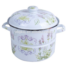enamel steamer for household with a beauty and simply style