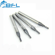 BFL Tungsten Carbide Left Hand Helix Square Endmill/3 Flute Carbide Coated Down Cut End Mills