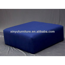 Upholstered stool ottoman in blue XY0303