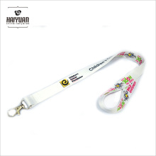 """5/8"""" W White Slippy Polyester Lanyards with Single Hook for Office"""