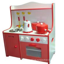 Lustige Kinder Hölzerne Küche Pretend Spiel Spielzeug DIY Gourmet Küche Spielzeug