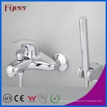 Faucet do chuveiro do banho da parede do bronze de Fyeer com desviador
