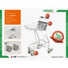 Carrinho de compras de alumínio para lojas de conveniência e supermercado
