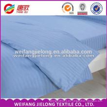 Tela de algodón de la raya del satén del blanco del algodón del precio barato para la tela del satén de la raya del sistema del lecho