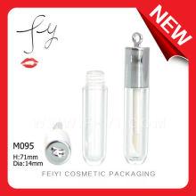 Lindo redondo con gancho Lip Gloss contenedor