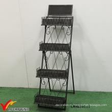 Лестница Промышленная металлическая складная витрина