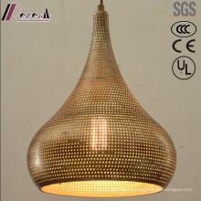 Ronda de metal y oro hueco colgante de luz con comedor