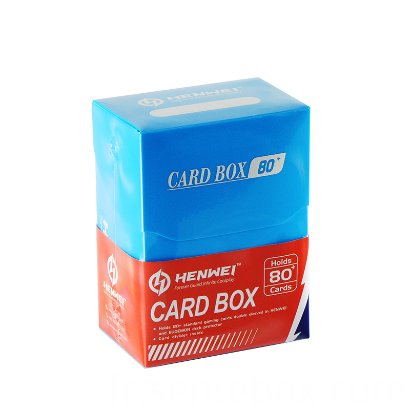 plastic 80 Pcs Capacity cards protecting deck Box