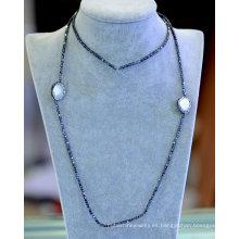 Venta al por mayor Simple hematita fresca perla collar pulsera joyería