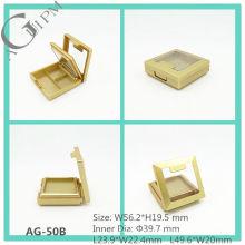 Plástico Rectangular sombra caja con espejo y la ventana AG-50B, empaquetado cosmético de AGPM, colores/insignia de encargo