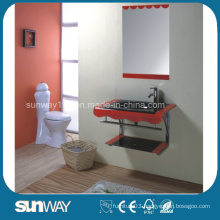 Modern Design Tempered Glass Basin with Mirror