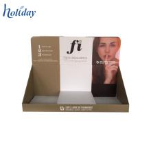 Boîte de présentation perforée de carton de compteur de magasin fait sur commande, récipients cosmétiques en gros